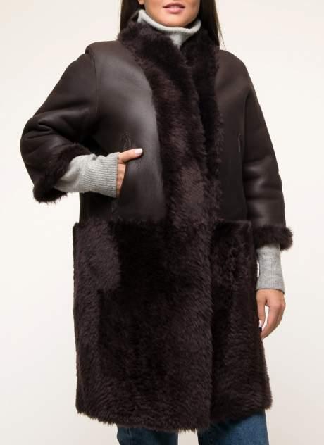 Дубленка женская Perre 33507 коричневая 50 RU