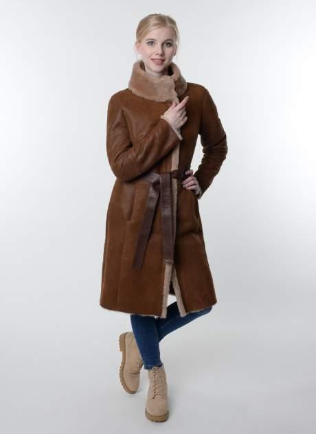 Дубленка женская Meridian 35505 коричневая 46 RU
