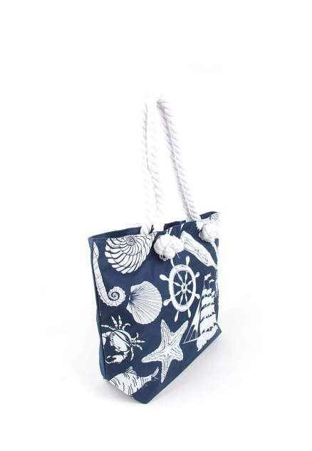 Пляжная сумка женская Daniele Patrici A27207 темно-синяя/белая
