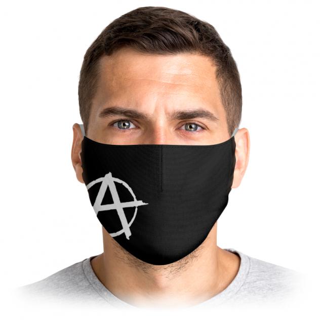 Многоразовая маска Printio Анархия черная L