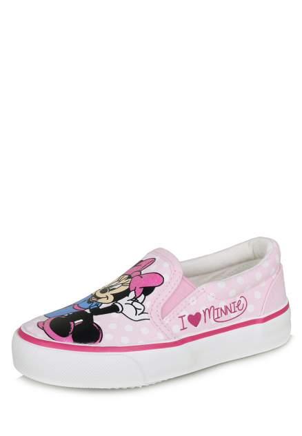 Слипоны детские Minnie Mouse, цв. розовый р.22