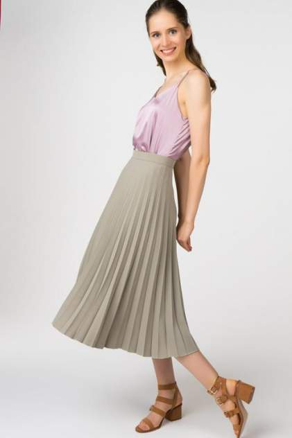 Юбка женская T-Skirt SS17-02-0322-FS зеленая 40