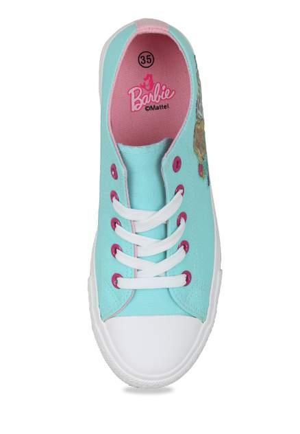 Кеды детские Barbie, цв. зеленый р.35
