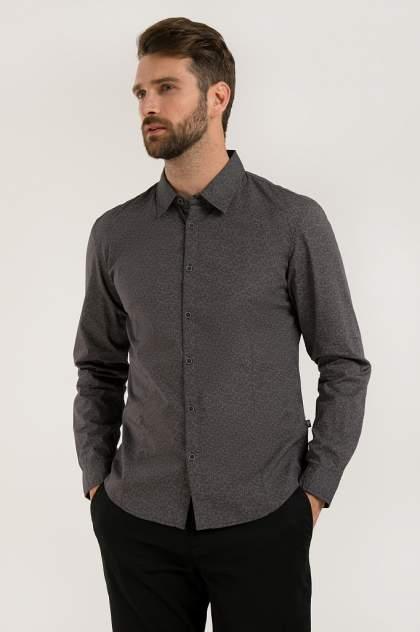 Рубашка мужская Finn Flare B20-22024 серая 3XL