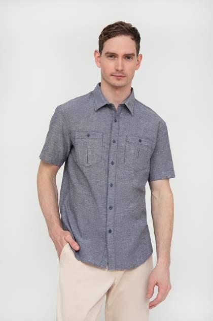 Рубашка мужская Finn Flare S20-21009, синий