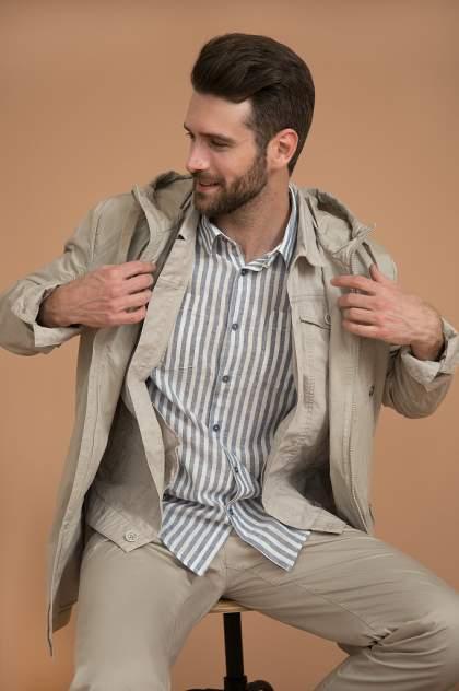 Рубашка мужская Finn Flare S20-24012 голубая 3XL