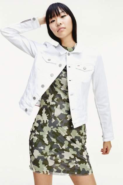 Джинсовая куртка женская Tommy Jeans DW0DW08154 белая XS