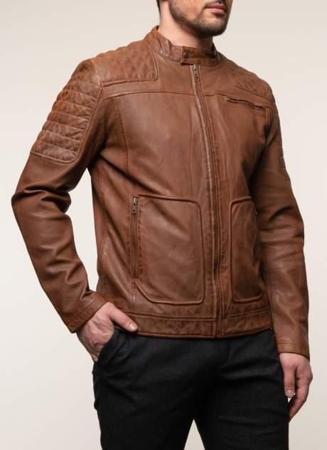 Куртка кожаная мужская КАЛЯЕВ 45651 красная 52 RU