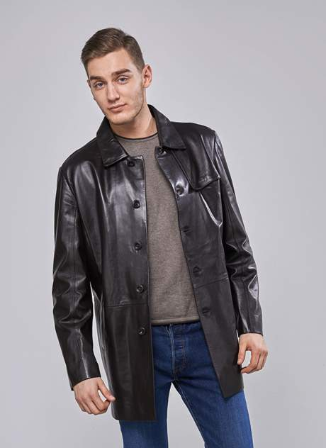 Куртка кожаная мужская Perre 31595 коричневая 54 RU