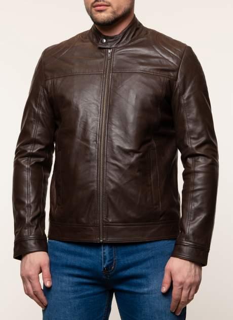 Куртка кожаная мужская Gotthold 45358 коричневая 58 RU