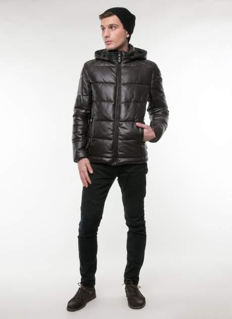 Куртка кожаная мужская КАЛЯЕВ 35842 коричневая 48 RU