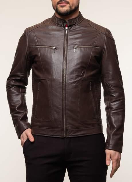 Мужская кожаная куртка Каляев 45223, коричневый