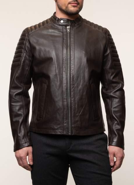 Куртка кожаная мужская КАЛЯЕВ 45367 коричневая 50 RU