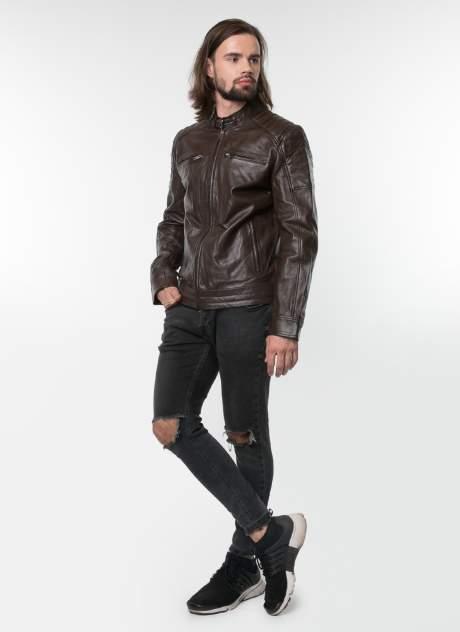 Куртка кожаная мужская Gotthold 34008 коричневая 54 RU