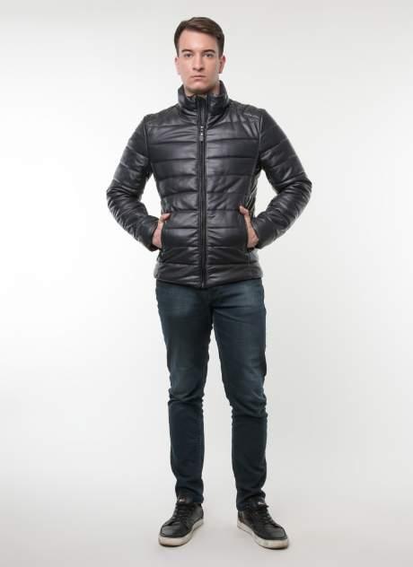 Куртка кожаная мужская КАЛЯЕВ 35580 синяя 58 RU