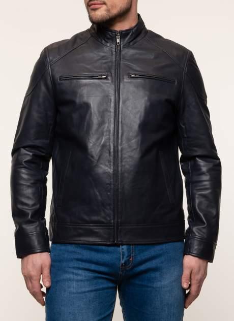 Куртка кожаная мужская Gotthold 45357 синяя 48 RU