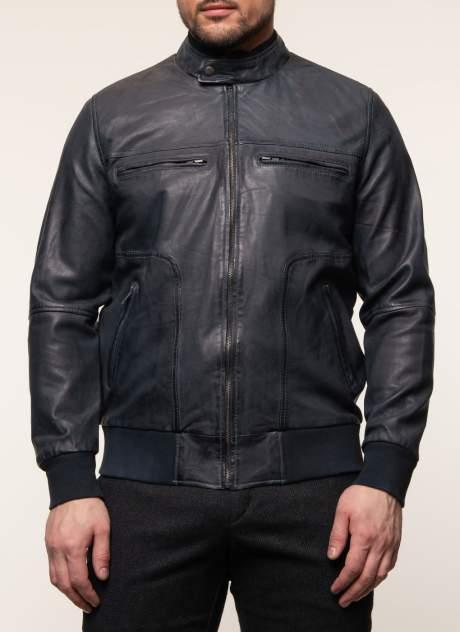 Куртка кожаная мужская КАЛЯЕВ 45648 синяя 60 RU