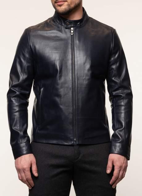 Мужская кожаная куртка Каляев 45572, синий
