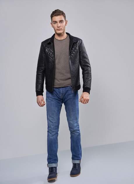 Куртка кожаная мужская Perre 31566 черная 54 RU