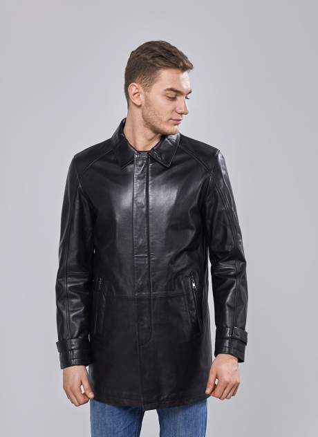 Мужская кожаная куртка Perre 31593, черный
