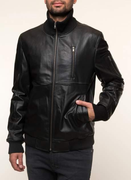 Куртка кожаная мужская КАЛЯЕВ 41468 черная 50 RU