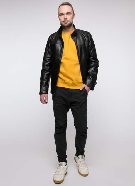 Куртка кожаная мужская Original fur company 38072 черная 56 RU