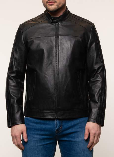 Куртка кожаная мужская Gotthold 45361 черная 54 RU
