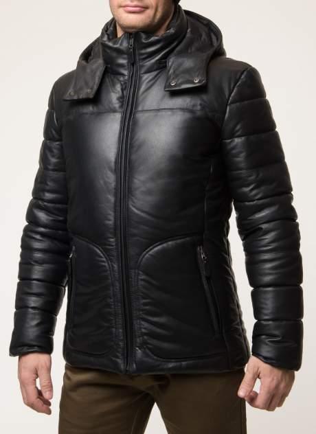Мужская кожаная куртка Каляев 43716, черный