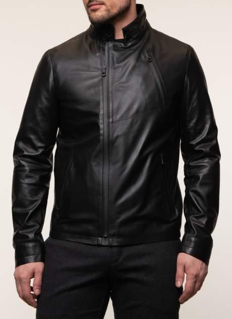 Куртка кожаная мужская КАЛЯЕВ 45573 черная 56 RU