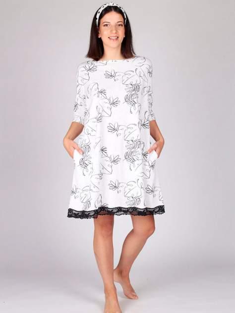 Домашнее платье женское HayS 30607-B111 белое 50-56