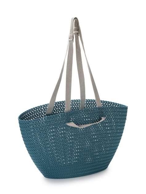 Сумка Curver Knit Emily для покупок синяя, 1 шт,
