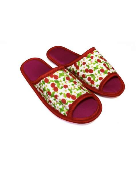Домашние тапочки женские Jollyjoy открытые вишни красные 40-41 RU