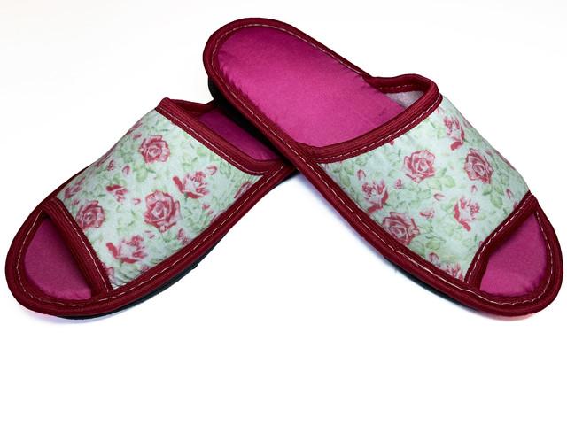 Домашние тапочки женские Jollyjoy розы розовые 38-39 RU
