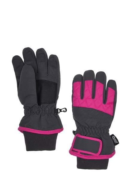 Перчатки для девочек Oldos Сидли серый/розовый, р. 17