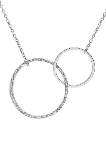 Колье женское серебряное SUNLIGHT S51333-H9W-01 с фианитом