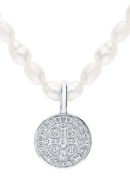 Колье женское серебряное SUNLIGHT S90535-H9W-01 с жемчугом