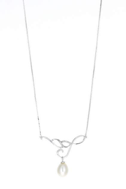 Колье женское серебряное MIROLLA XL1049 с жемчугом/цирконием