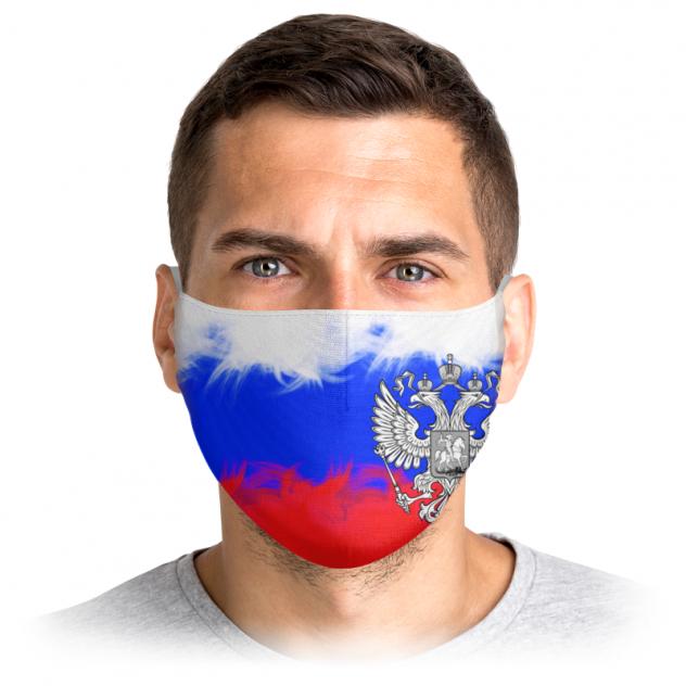 Многоразовая маска Printio Россия голубая M