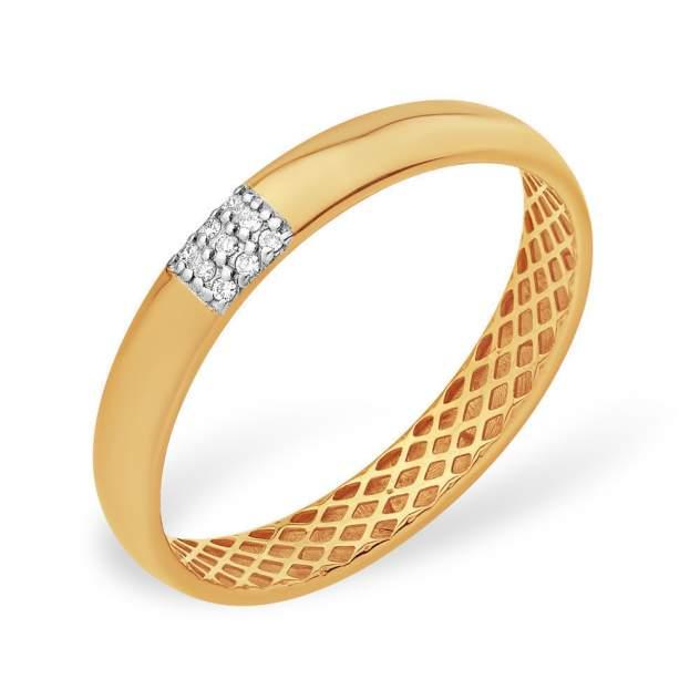Кольцо унисекс НАШЕ ЗОЛОТО ЮПК13110745 золотое бриллиант р.16.5