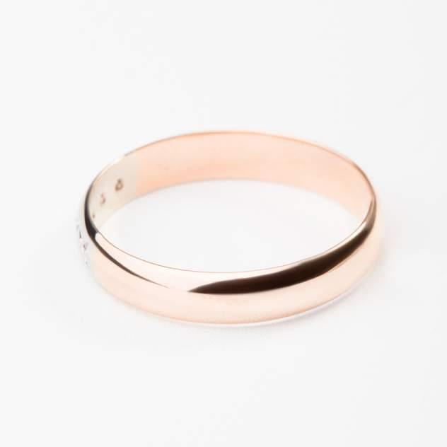 Кольцо унисекс НАШЕ ЗОЛОТО ЗСК15000014 золотое бриллиант р.19
