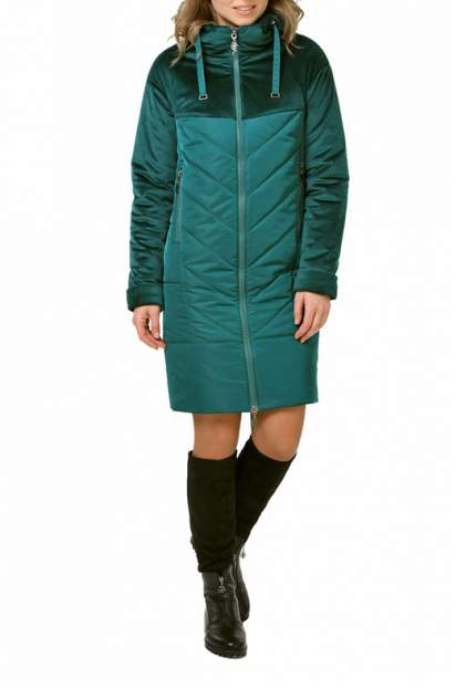 Пуховик-пальто женский DizzyWay 19308 зеленый 56 RU