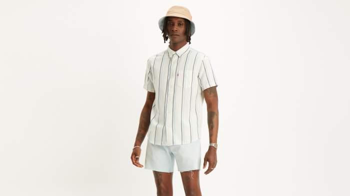 Рубашка мужская Levi's 86627-0010 голубая S