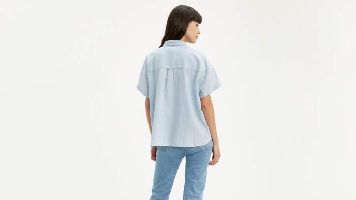 Рубашка женская Levi's 85334-0005 голубая XS