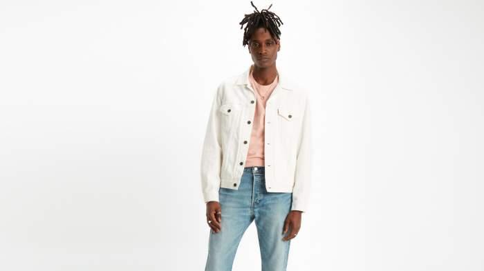 Джинсовая куртка мужская Levi's 77380-0007 белая XXL