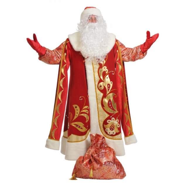 Карнавальный костюм Карнавалофф Дед Мороз, цв. красный р.188