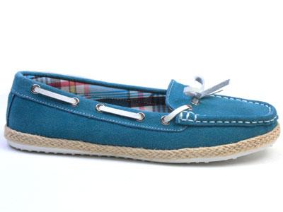 Мокасины женские Betsy 134129 голубые 36 RU