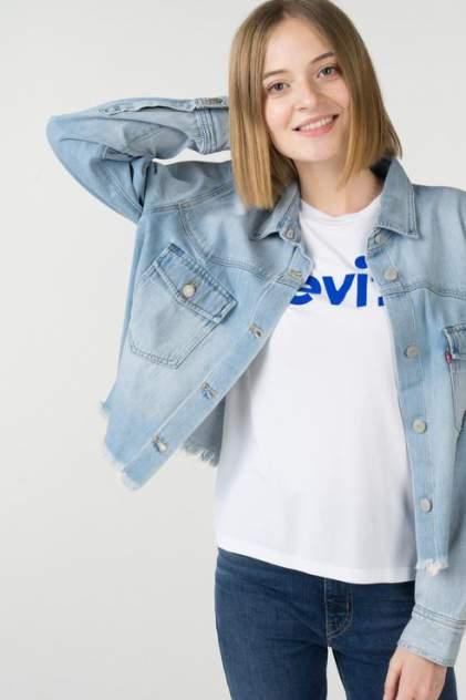 Рубашка женская Levi's 1400000734/2 голубая 46