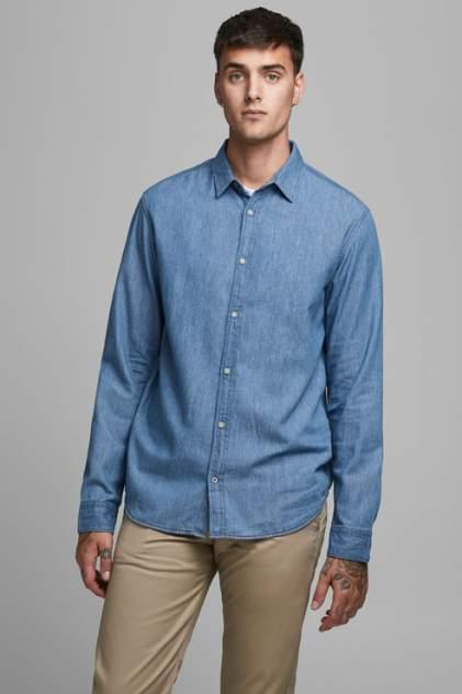 Рубашка мужская Jack & Jones 1400000706/1 голубая 52
