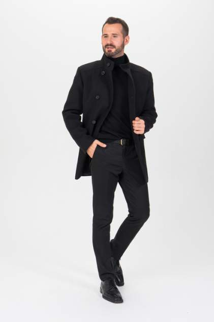 Пальто мужское Envy Lab 1500078873/3 черное 50