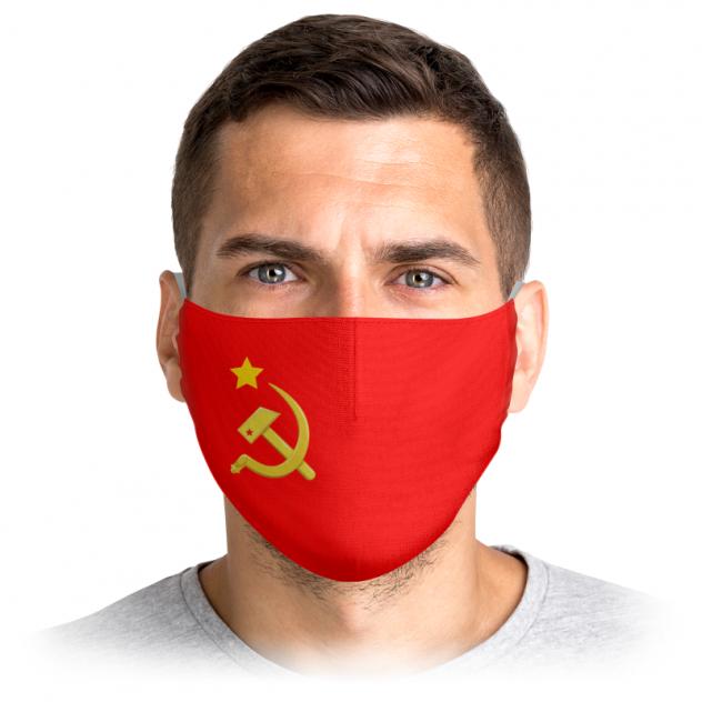 Многоразовая маска Printio Серп и молот красная M